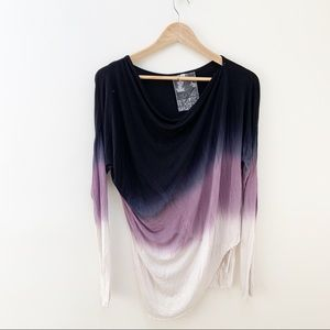 Young Fabulous & Broke ombre long sleeves top S